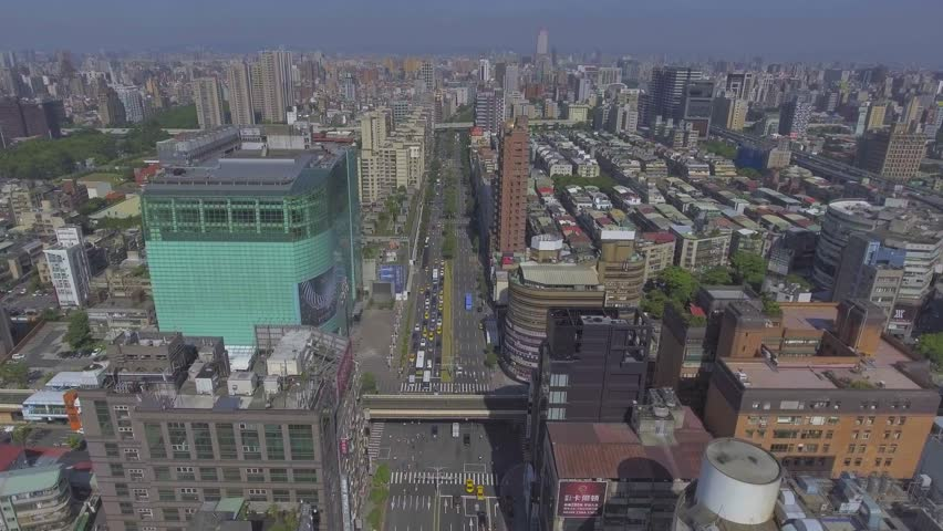 Taipei buildings and transportation aerial view | Shutterstock HD Video #24044281