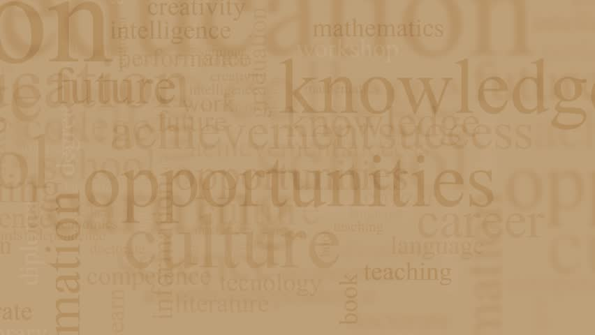 Word cloud with terms about education and school | Shutterstock HD Video #24077617