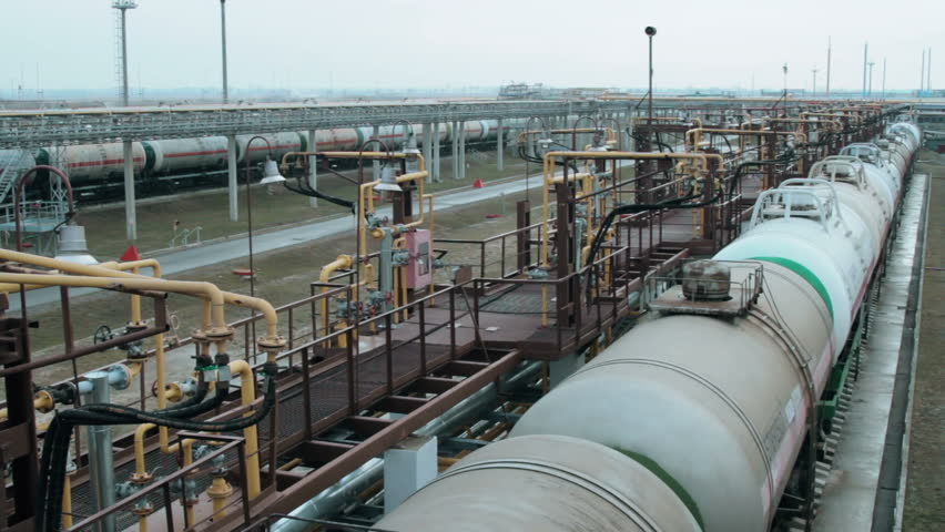 Railway tanks for the transportation of liquefied natural gas lpg | Shutterstock HD Video #24103258