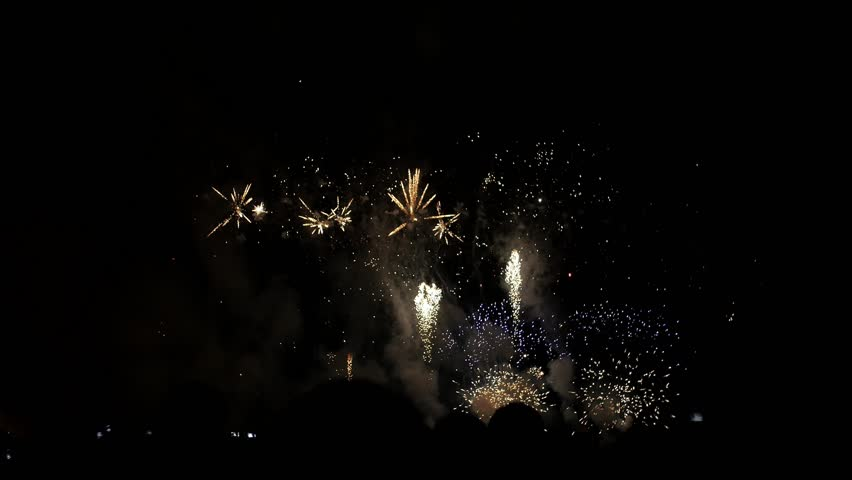 People look at fireworks | Shutterstock HD Video #24106660