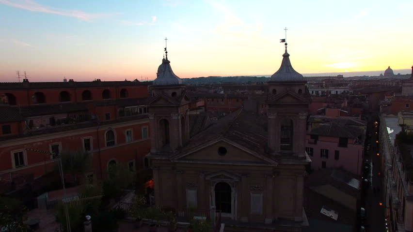 Rome skyline, Italy aerial drone video. About art, Margutta, the capital, the eternal city, ancient Rome, the dome | Shutterstock HD Video #24107407