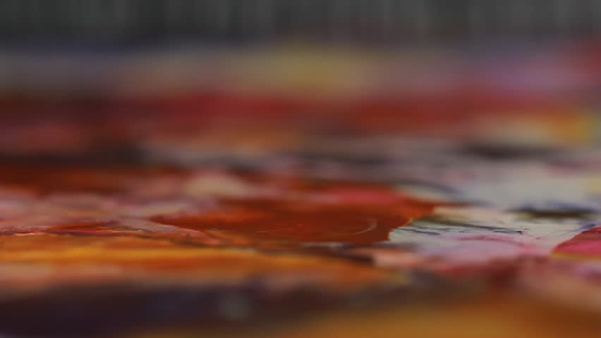 Artist in her art studio paint brushes and ink paintings | Shutterstock HD Video #24113122