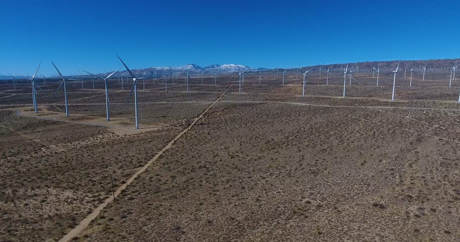 Aerial Drone Footage Of Windmill Farm 4k 24fps  | Shutterstock HD Video #24115795
