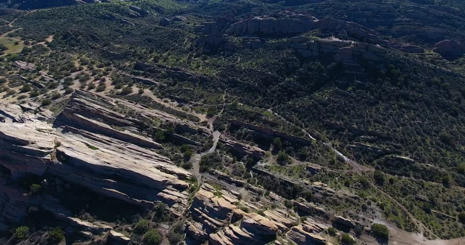 Vasquez Rocks Aerial Drone Footage in 4k 24 fps | Shutterstock HD Video #24116335