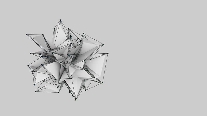 Grey low polygonal animation. 3d rendering. | Shutterstock HD Video #24118486