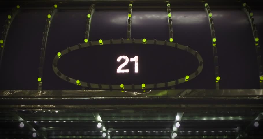 Bright and shiny 21 sign. Endless looped 4k video. | Shutterstock HD Video #24119521