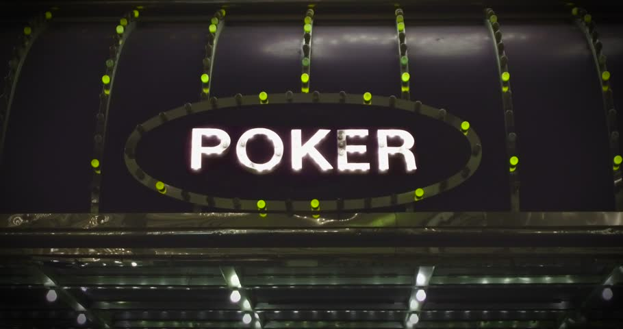 Bright and shiny poker sign. Endless looped 4k video. | Shutterstock HD Video #24119530