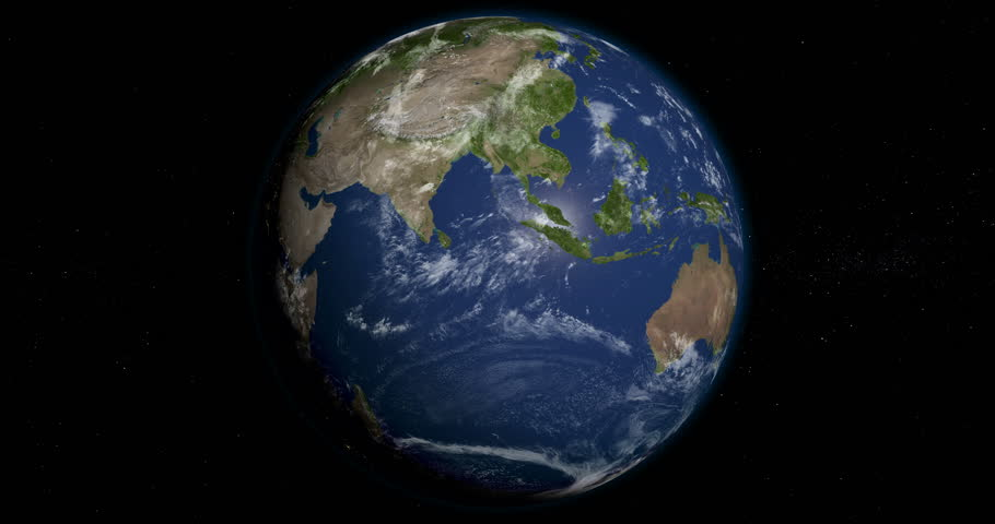 Planet Earth orbiting in 4K, looped, day and night, 3D animation, alpha | Shutterstock HD Video #24119548