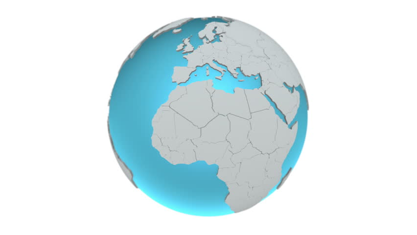 Spinning World Globe - seamless loop 3d animation on white background. | Shutterstock HD Video #24121555