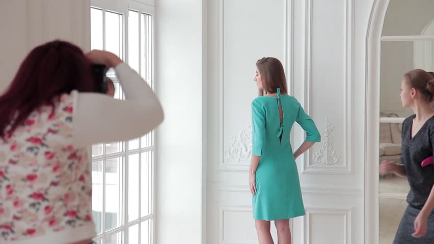 Model and fashion designer working on a photo shoot   Shutterstock HD Video #24122743