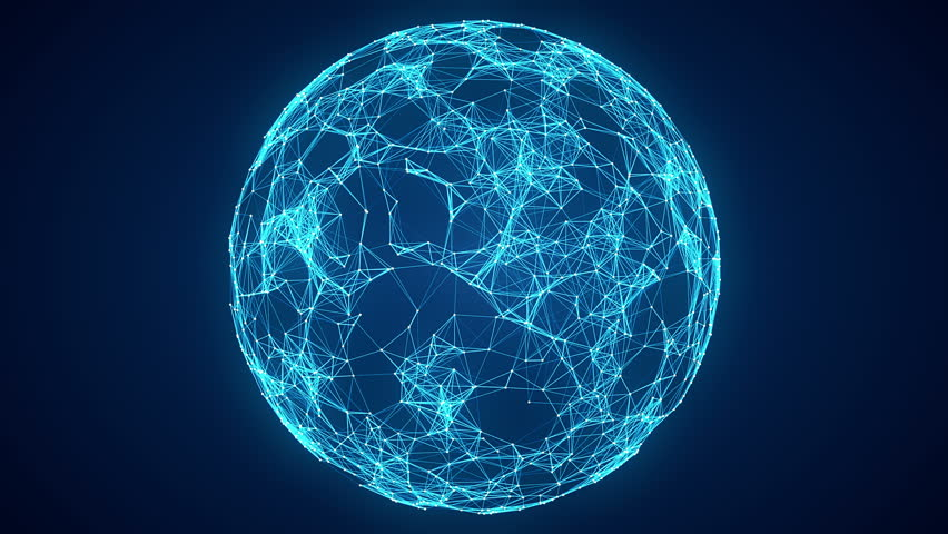 Abstract Spherical Network Background | Shutterstock HD Video #24124093