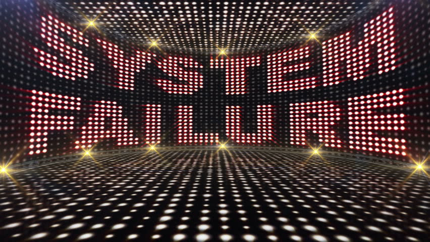 SYSTEM FAILURE Text and Abstract Crazy Lights Bulb Animation, Rendering, Background, Loop, 4k  | Shutterstock HD Video #24127675