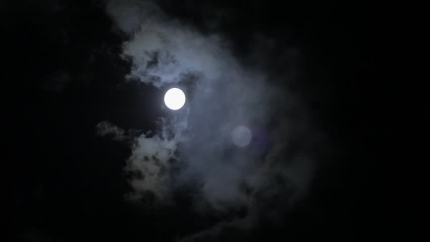 Time lapse of full moon behind fast moving clouds at night | Shutterstock HD Video #24132337