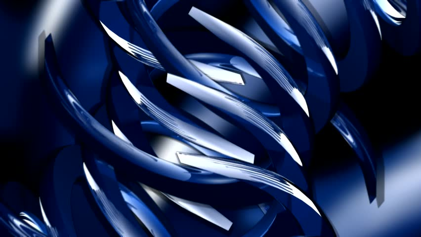 Rotating blue abstract shapes   Shutterstock HD Video #24135982