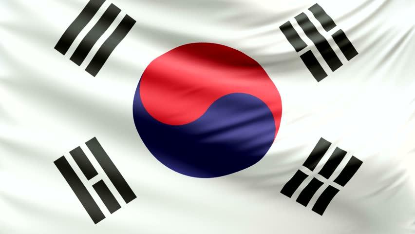 Realistic beautiful South Korea flag 4k | Shutterstock HD Video #24154774