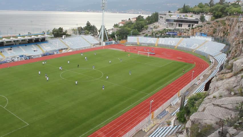 RIJEKA, CROATIA - JUNE 9: Soccer match between HNK Rijeka and F.A. Abuja (friendly match) on June 9, 2012 in Rijeka, Croatia