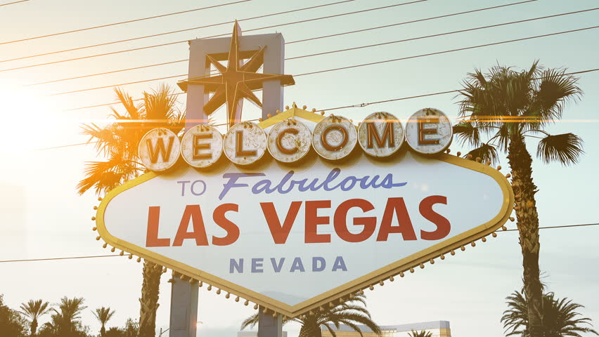 High quality video of welcome to fabulous Las Vegas Sign in 4K | Shutterstock HD Video #24193672