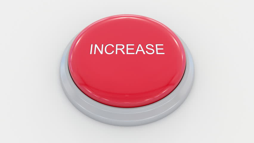 Pushing big red button with increase inscription. Conceptual 4K clip | Shutterstock HD Video #24200098