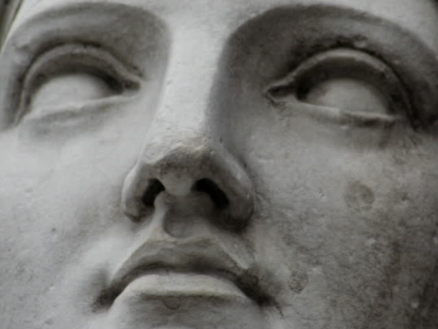 Detailed head of a statue - SD stock video clip