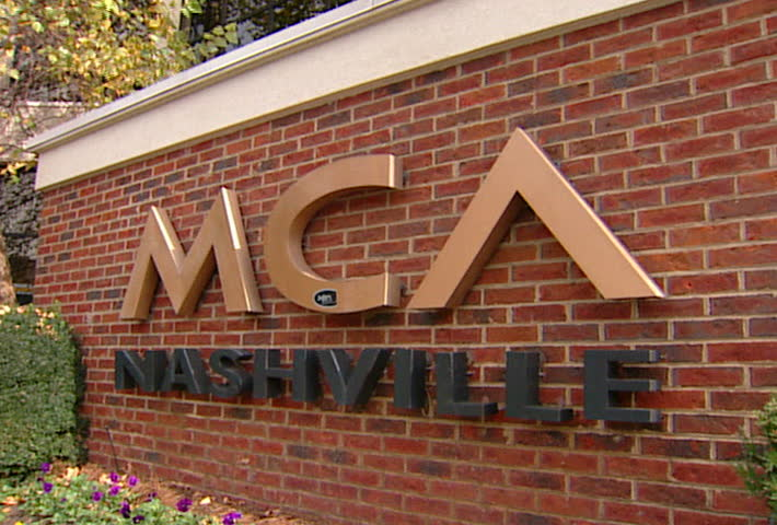 NASHVILLE - Circa 2002: MCA Nashville sign and building in 2002. MCA Nashville was Universal Music Group's country music subsidiary. - SD stock footage clip