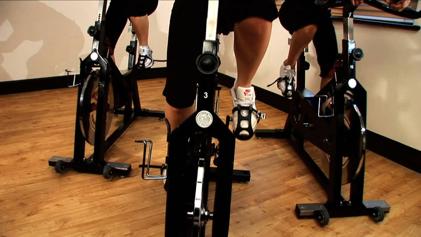 Beautiful girls exercising at the gym - HD stock video clip