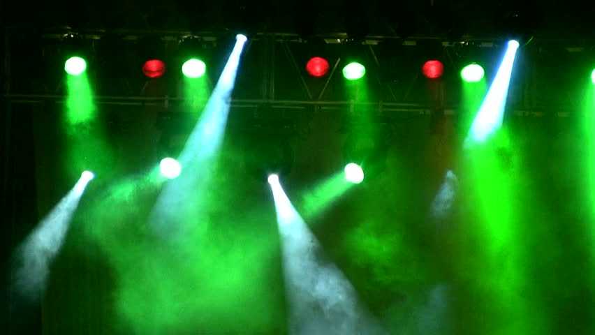 Colorful lights in a concert - HD stock footage clip