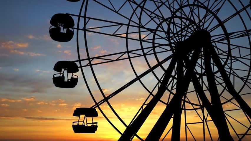 Ferris Wheel Full Hd video - HD stock video clip