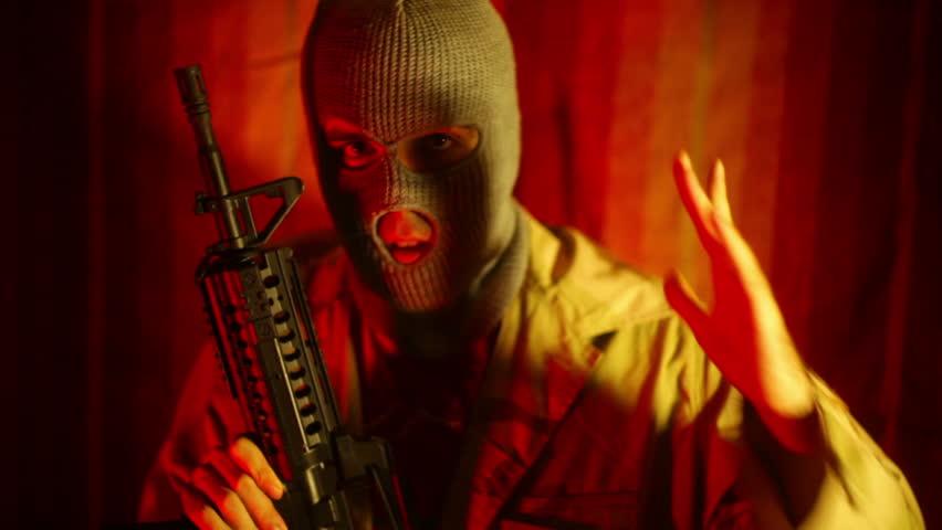 Islamic Man with Gun