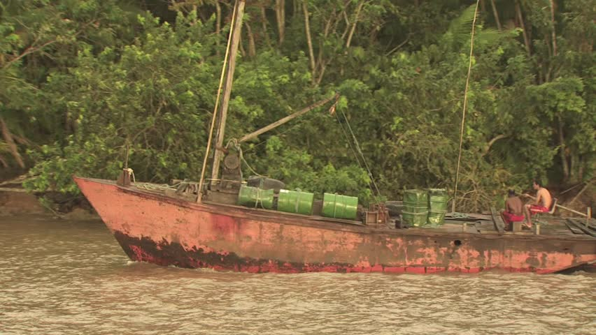 Fishing boat on the amazon river stock footage video for Amazon fishing net