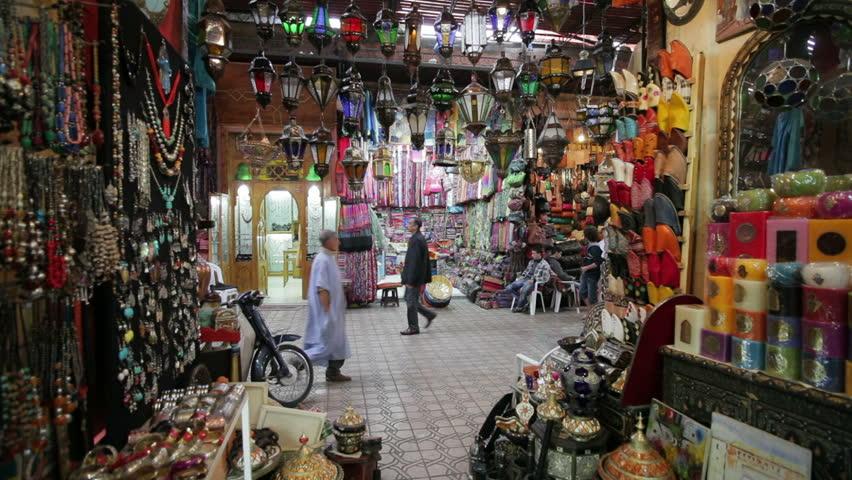 MARRAKESH, MOROCCO - CIRCA MAY 2011: In the Souk, Marrakech, Morocco