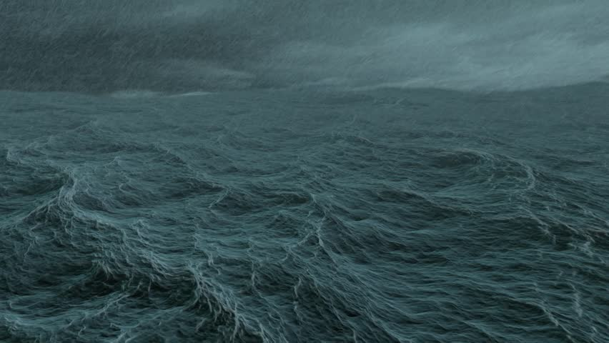 1080p wide storm in the sea shot - HD stock footage clip