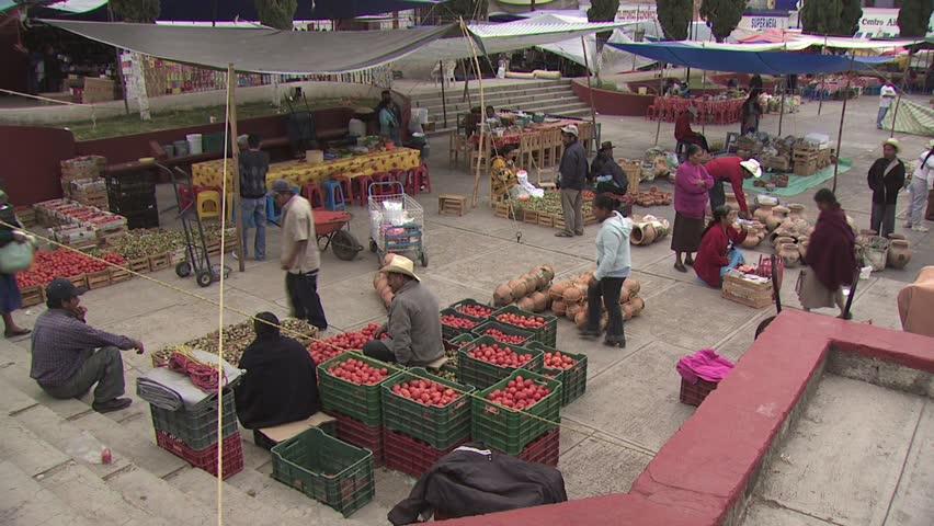 MEXICO CITY - CIRCA 2010: View of Open Air Market in Mexico
