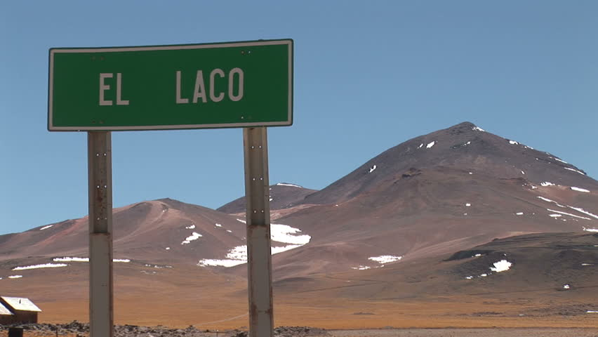 Sign in Atacama Desert, Chile - HD stock footage clip