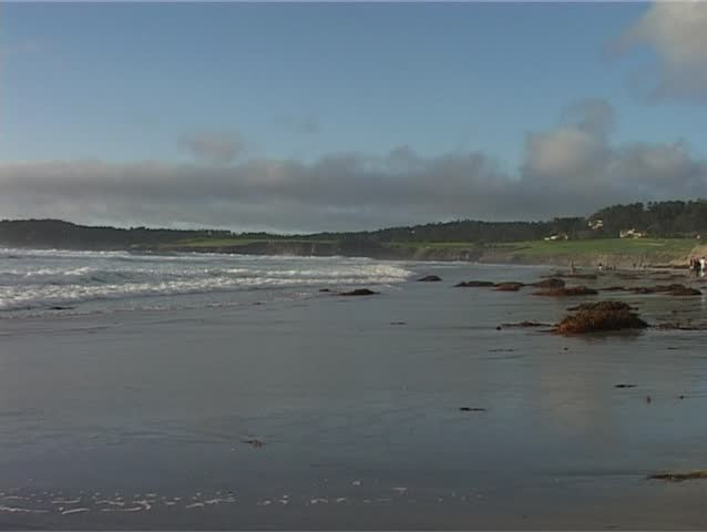 Shot of the famous Pebble Beach near Carmel in Northern California.