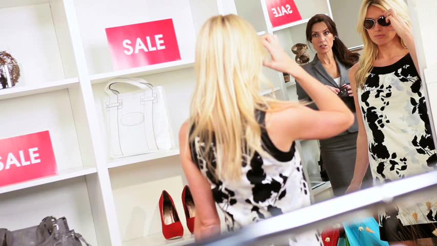 females shopping for clothes