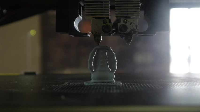 3D printing - Three dimensional printer - 3D plastic printer | Shutterstock HD Video #26708479
