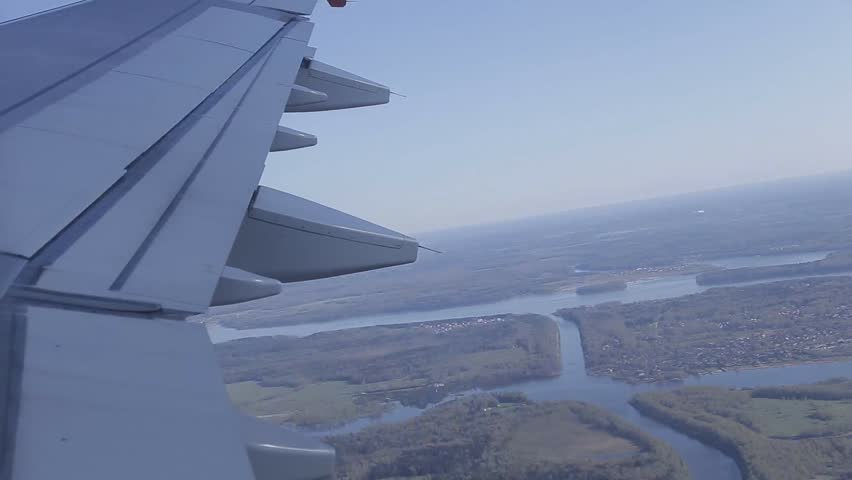 aircraft Wing in a window #26771551