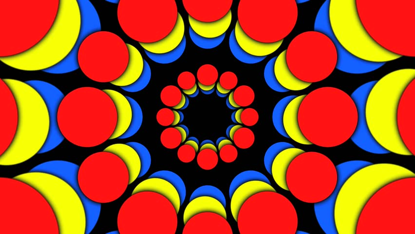 Abstract CGI motion graphics and animated background with kaleidoscope sequence - HD stock video clip
