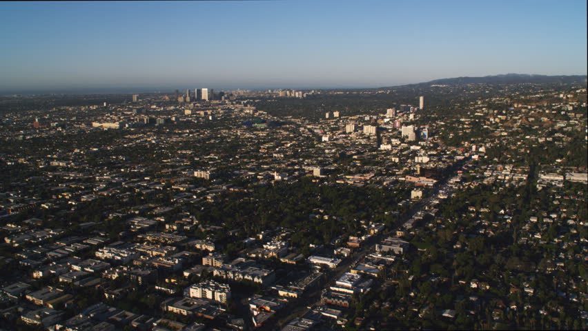 Just beyond Hollywood, looking back at Los Angeles in distance. Shot in 2010. | Shutterstock HD Video #26872648