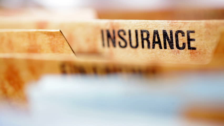 insurance file - HD stock footage clip