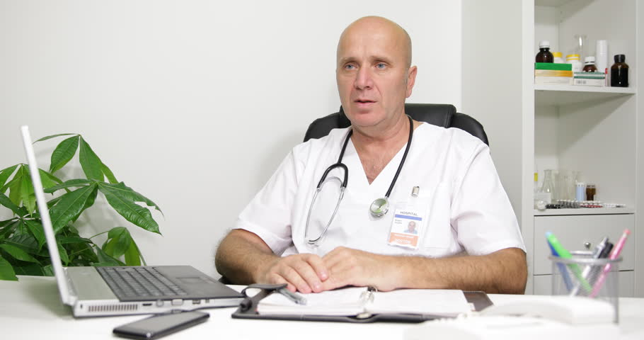 Doctor Explaining Newest Medical Era Technology Possibilities Modern Treatment ( Ultra High Definition, UltraHD, Ultra HD, UHD, 4K, 2160P, 4096x2160 ) | Shutterstock HD Video #27023245