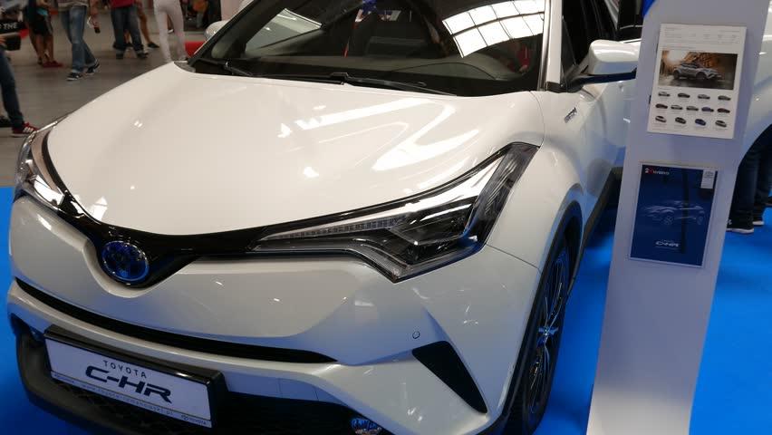 Krakow, Poland, May 20, 2017, Moto Show: Toyota C-HR - shiny modern auto | Shutterstock HD Video #27070927