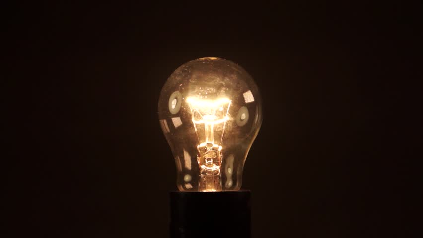 Light bulb on black background. Idea light bulb. electrical disturbances | Shutterstock HD Video #27088387