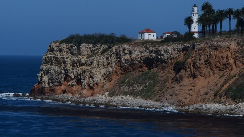 Point Vincente Lighthouse and ocean Rancho Palos Verdes, Ca.  | Shutterstock HD Video #27196837