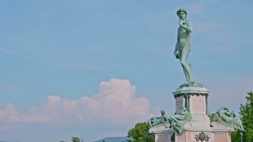 David by Michelangelo in bronze, Florence Tuscany Italy | Shutterstock HD Video #27212002
