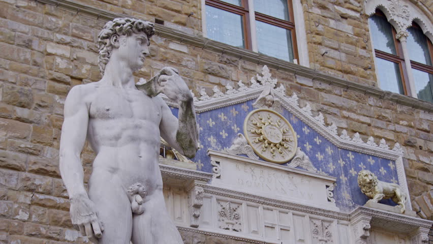 Replica of the original statue of David in Florence, Italy | Shutterstock HD Video #27212146