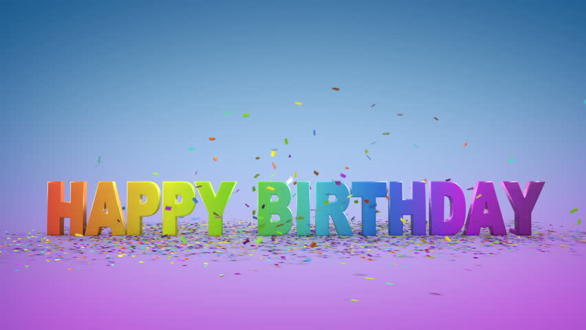 Happy Birthday, 3d Animation Stock Footage Video 2752439