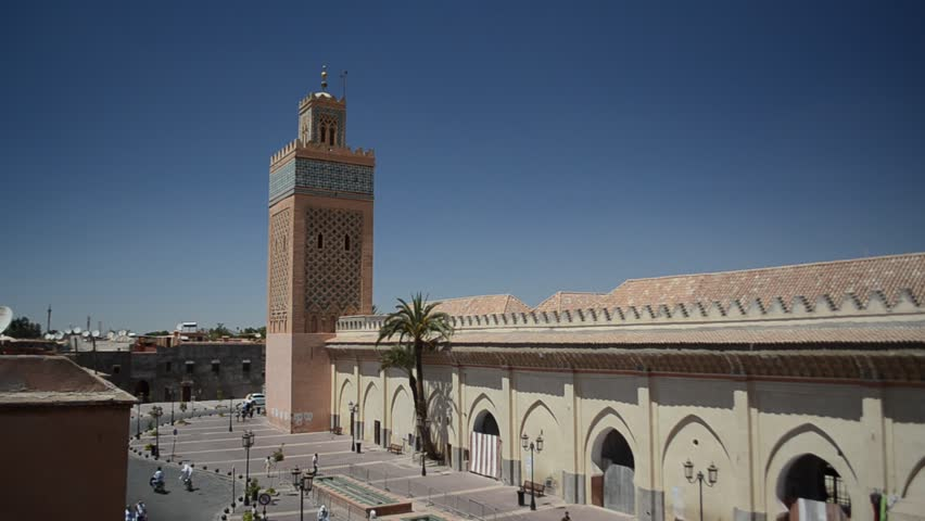 MARRAKECH, MOROCCO - CIRCA 2012: Saadian Tombs palace circa July 2012 in Marrakech, Morocco.