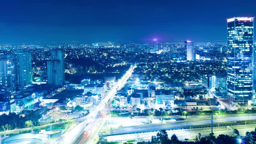 Tel Aviv Hd: December 18, 2014: Tel Aviv Skyline