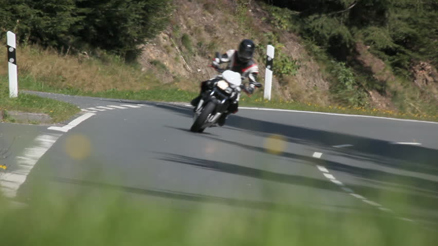 Motorcycle Racing On The Highway Stock Footage Video ...